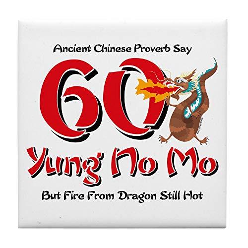 CafePress Yung No Mo 60Th Birthday Tile Coaster, Drink Coaster, Small Trivet