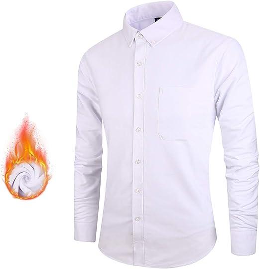 ZWLXY Camisa De Hombre De Manga Larga Más Camisa De Terciopelo Cálida Camisa De Algodón para La Fiesta De Lunes A Viernes,A6,XXXL: Amazon.es: Jardín