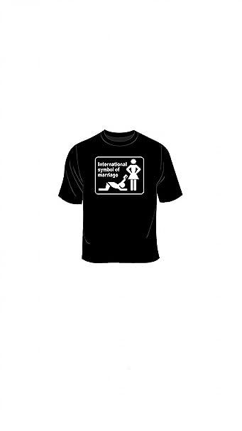 Símbolo del Islam matrimonio International - para mayores de chiste T-camiseta de manga corta