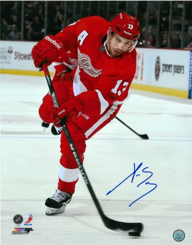 Pavel Datsyuk Autographed Detroit Red Wings 16x20 Photo #4 - The