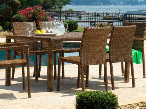 Panama Jack Outdoor 7-Piece St Barths Rectangular Dining ...