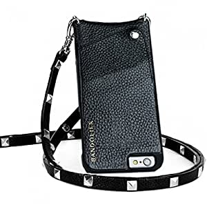 Bandolier Sarah iPhone Case with Strap (Black with Silver Studs (iPhone 6+ or 7+))