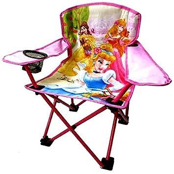 Petit Tout Métal En Longue Pour Convient JardinPatioCampingPêche Princesse Pliable Chaise Disney AL354Rjq