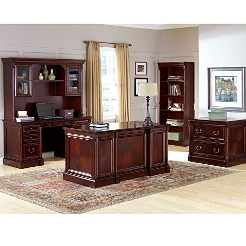 Kathy Ireland Mount View Complete Executive Office Set Cobblestone CherryWeight: 1366 lbs. by Martin Furniture