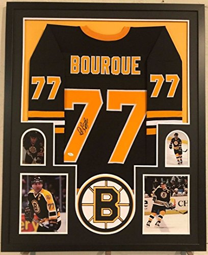 FRAMED RAY BOURQUE AUTOGRAPHED SIGNED BOSTON BRUINS JERSEY JSA (Ray Bourque Framed)