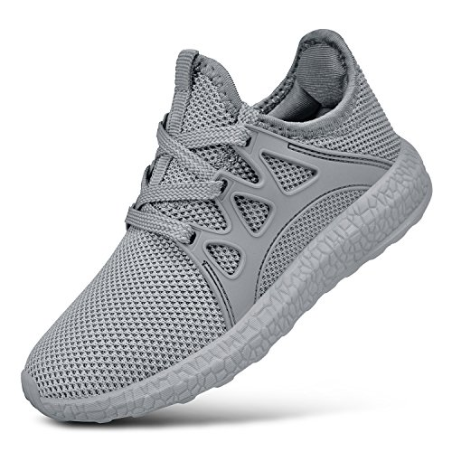 neakers Lightweight Athletic Sports Running Shoes Breathable Tennis Shoes Grey 5.5 ()
