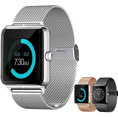 Smart Watch Upgrated Bluetooth Smartwatch with Camera Touchscreen,Smart Watches Unlocked Cell Phones with SIM Card Slot, Sport Wrist Watches for iPhone/Android/iOS