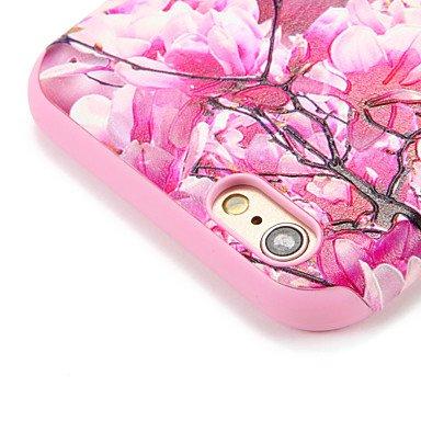 Fundas y estuches para teléfonos móviles, Para la caja de la contraportada del patrón de la cubierta del caso del iphone 7 7plus de la manzana la palabra / la flor suave de la ( Modelos Compatibles :  IPhone 7