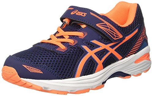 Asics Gel-Zaraca 5 Ps, Zapatillas de Entrenamiento Unisex Bebé Multicolor (Indigo Blue/flash Coral/white)