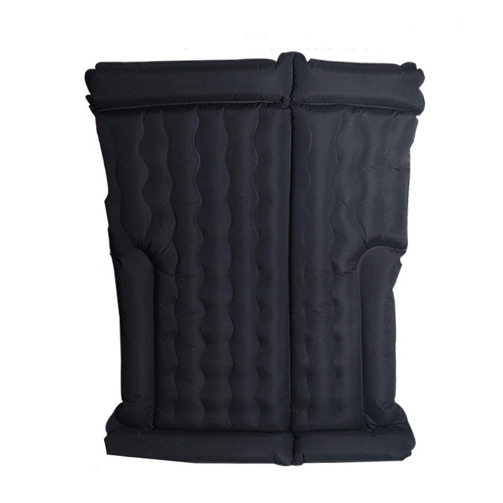 車のエアマットレス折りたたみ旅行ベッドカー厚い車のベッドSUVシックベージュ(多色オプション) B07FL537FF Black Black