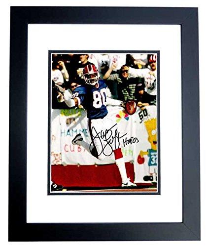 (James Lofton Signed - Autographed Buffalo Bills 8x10 inch Photo BLACK CUSTOM FRAME)