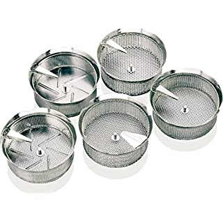 Paderno World Cuisine Sieve for 8-Quart Stainless Steel Food Mill with 1/8-Inch Perforations