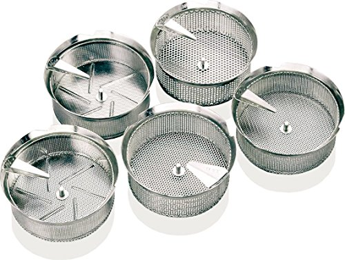 Paderno World Cuisine Sieve for 8-Quart Tin Food Mill with 5/32-Inch Perforations - Tin Food Mill