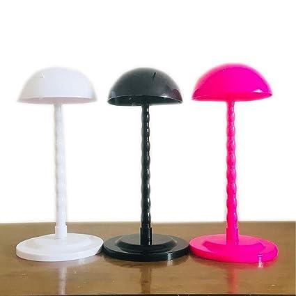 ZiQe Plástico DIY Peluca Soporte Portátil Estable Soporte Plegable para Peluca/Tupé / Sombrero Exhibidor Peluca Titular de Soporte 2018(rosa)
