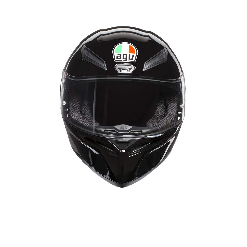 AGV Unisex-Adult Full Face K-1 Motorcycle Helmet Black Medium//Large