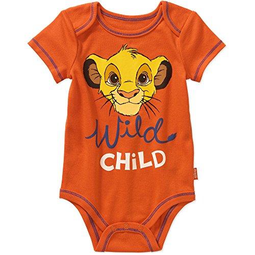 [Disney Lion King Baby Boys Bodysuit Dress Up Outfit (18 Months, Orange)] (Disney Dress Up For Boys)