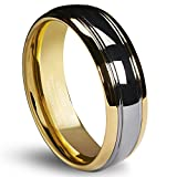 Queenwish 6mm Tungsten Carbide Wedding Band Gold Silver Dome Promise Rings for couples Size 13