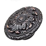5710-ORB-10 - GlideRite Hardware 2'' Old World Ornate Oval Cabinet Knobs, Oil Rubbed Bronze (Pack of 10)