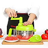 wedgewood stainless flatware - Tenta Kitchen 3.2-Cup/800ml Hand Crank Food Processor/Manual Food Chopper/Meat Grinder/Vegetable Dicer And Mincer/Fruit Blender With Egg Separator