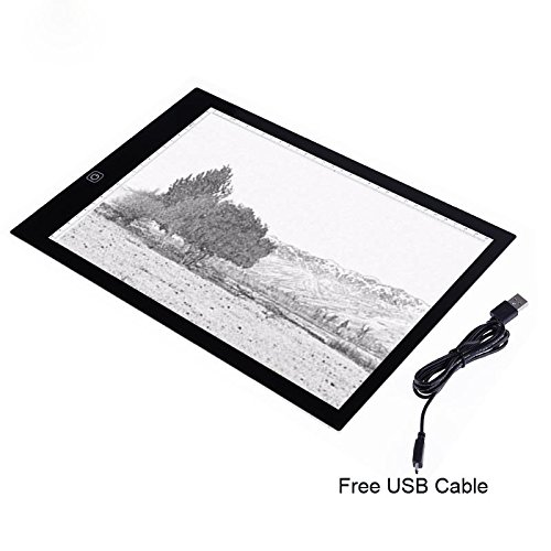 Eb A4 Tracing Light Box LED Ultra-Thin Light Pad Portable Artist Drawing Tattoo Board Pad Table Stencil Display by Baby Elephant (Image #2)