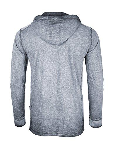 b0df934ac6dd ZIMEGO Long Sleeve Vintage Garment Dyed Lightweight Fashion Hooded Henley