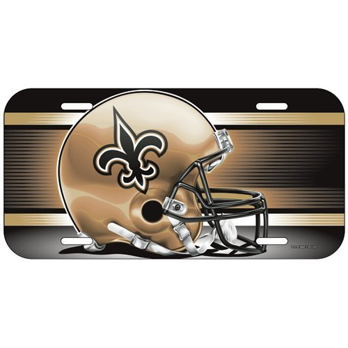 WinCraft NFL New Orleans Saints License Plate, Team Color, One Size