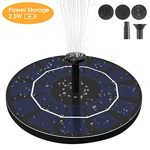 Best solar fountain pump with battery
