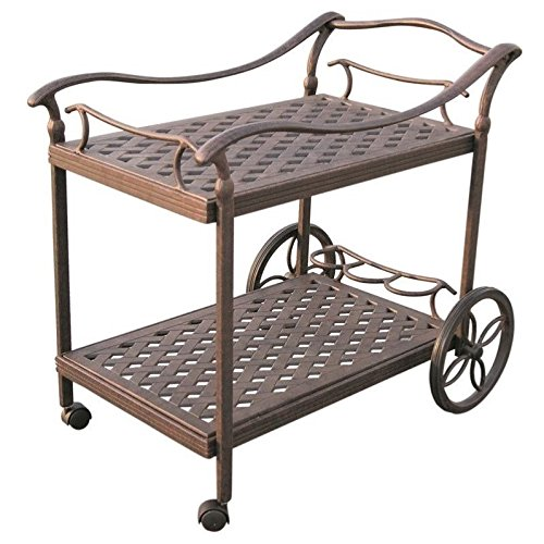 Darlee Outdoor Tea Cart in Antique Bronze