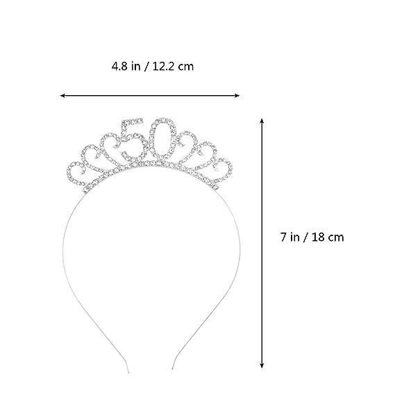 Aros de Pelo Corona de Diamantes de Imitación de Metal para ...