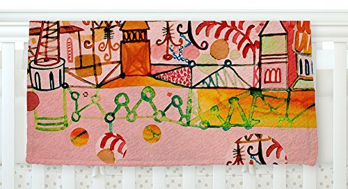 KESS InHouse Marianna Tankelevich Happy Town Pink Fleece Baby Blanket 40 x 30 [並行輸入品]   B077Z4HF7L