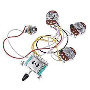 amazon com electric guitar wiring harness prewired kit 5 way toggle rh amazon com electric guitar wiring kits electric guitar wiring harness on ebay