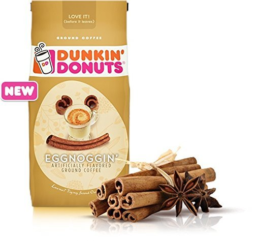 Dunkin Donuts Eggnoggin Ground Coffee (Pack of 2)