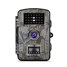APEMAN Trail Camera Hunting Game Camera with Infrared Night Version, 2.4 inch LCD Screen, PIR Sensors, IP54 Spray Water Protected design
