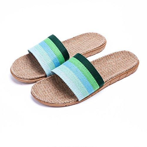 Men's Flat Slipper Unisex Home Slippers Slides Women Sandals Casual HRFEER Linen Indoor Breathable Shoes wpI0OTxUq