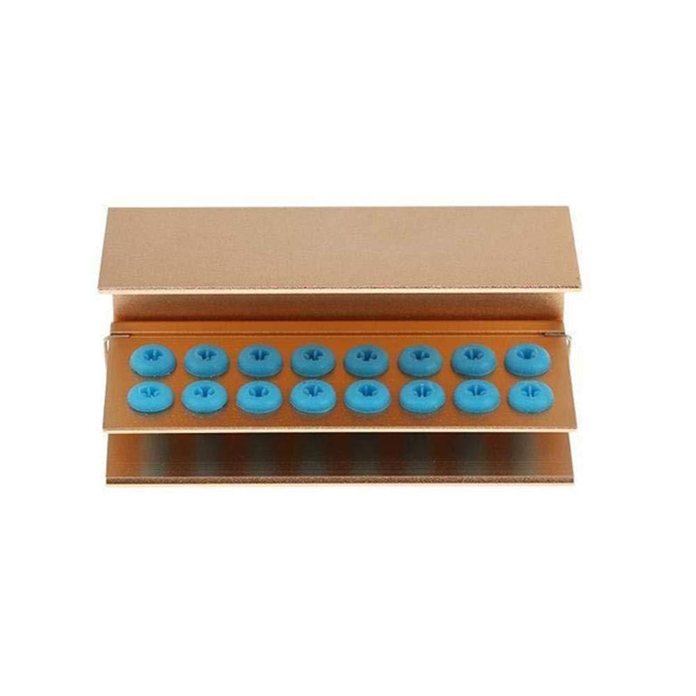 Gracefulvara Aluminum 16 Holes Dental Burs Disinfection Autoclave Holder Block Stand 3#