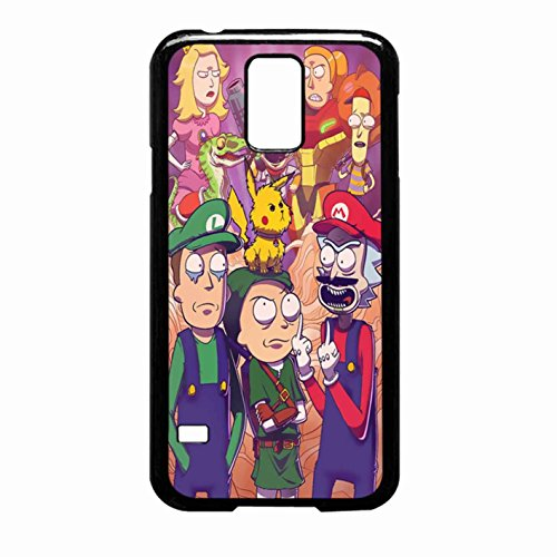 Rick And Morty Meet Smash Bros Super Mario Case Samsung Galaxy S5