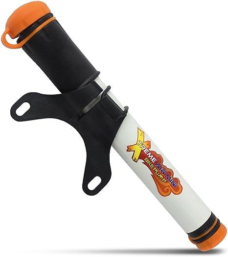 Xtreme Bright Mini Bomba de Aire para Bicicleta. Inflador para Bicicleta Compatible con válvulas Presta y Schrader. La Manguera se Guarda fácilmente en la Propia Bomba de Mano.: Amazon.es: Deportes y aire