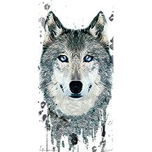 Culturenik TTL056 Wolf Face Modern Animal Art Poster