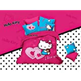 CASA Children 100% cotton series HELLO KITTY duvet cover & pillow cases & Fitted Sheet,4 Pieces,Full