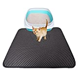 Cat Litter Mat Large, EVA Non-Slip Pet Placemats, Double-Layer Waterproof, Easy Clean, Durable, Non Toxic Trapper Rug (S)