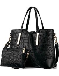 Women Top Handle Satchel Handbags Tote Purse Crocodile Leather Tote Bag