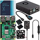 Vilros Raspberry Pi 4 Basic Starter Kit with Fan-Cooled Heavy-Duty Aluminum Alloy Case (1GB, Black)