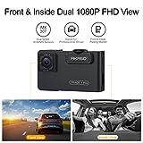 AKASO Trace 1 Pro Dual Lens Car Dash Camera, 2K
