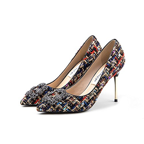 1934218b Zapatos De Corte De Damas Para Mujer Primavera Sexy Banquete Vestidos  Pasadizos Zapatos Tacones De Aguja