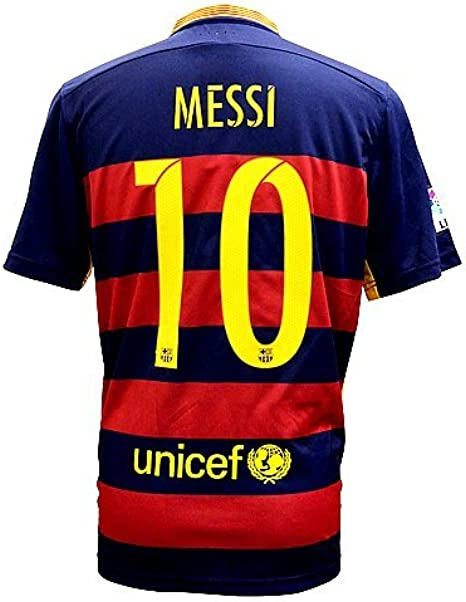 Amazon Com Fc Barcelona Messi Home Soccer Jersey 2015 2016 Football Shirts M Clothing