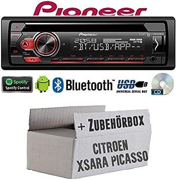 Einbauset f/ür Citroen Xsara Picasso Spotify MP3 JUST SOUND best choice for caraudio Android Autoradio Radio Pioneer DEH-S310BT 4x50Watt Einbauzubeh/ör CD Bluetooth USB