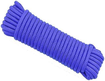 NIUFHW Cuerda De Nylon Azul Cuerda Tendedero Multiusos Línea ...