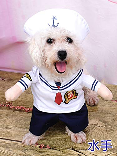 Cowmole Co. Cosplay Dog Clothes for Small Dogs Winter French Bulldog Jacket Standing Cartoon Dog Halloween Costume Chihuahua Pet Clothes