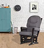 Dutailier Modern Glider, Espresso/Dark Grey For Sale
