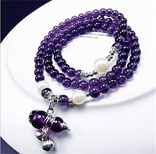 Buddhist Amethyst Bracelet Necklace Thanksgiving product image